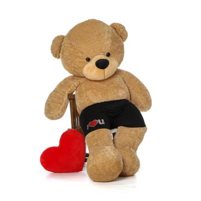 6ft Life Size Amber Teddy w black boxer shorts