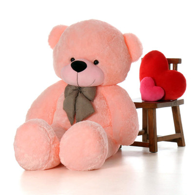 6 Foot Life Size Teddy Bear Soft Pink Color Sweet Cuddly