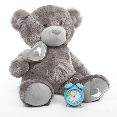 Silver Teddy Bear Snuggle Pie Big Love 2.5ft
