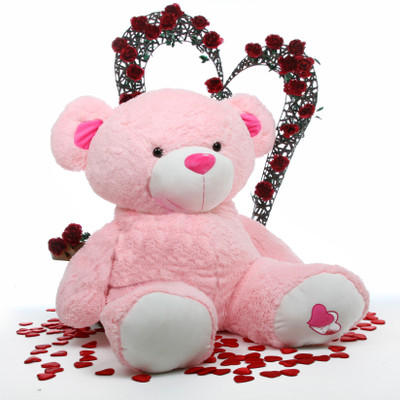 56in Life Size Cutie Pie Big Love Pink Teddy Bear