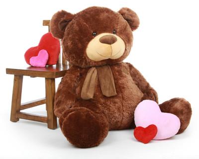 Enormous Chestnut Brown Teddy Bear 45in