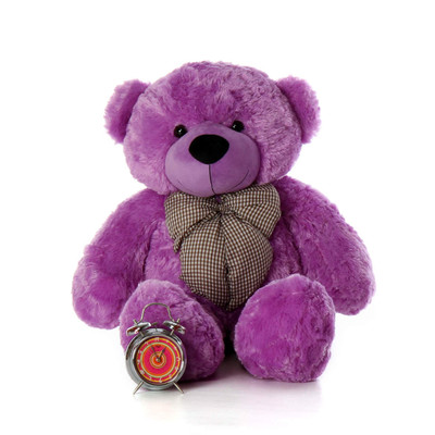 DeeDee Cuddles Giant Teddy bear over 3ft tall most beautiful bright purple fur
