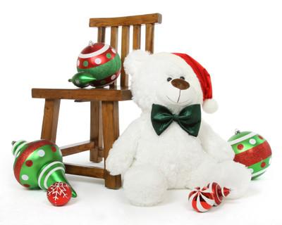 Waldo Holiday Shags Plush White Christmas Teddy Bear 27in