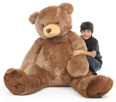 Sweetie Tubs Extra Cuddly Huge Mocha Brown Teddy Bear 65 in.