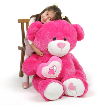 ChaCha Big Love Extra Large Hot Pink Teddy Bear 42 in