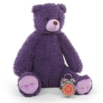 Shabs Woolly Tubs Purple Plush Teddy Bear 18 inches