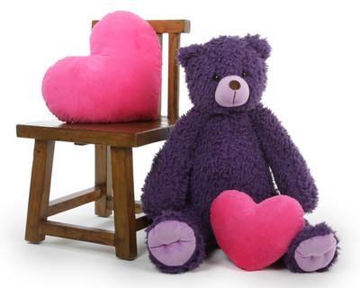 Purple 32in Violet Wolly Tubs Teddy Bear
