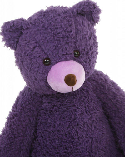 Close up Violet Woolly Tubs Purple Teddy Bear