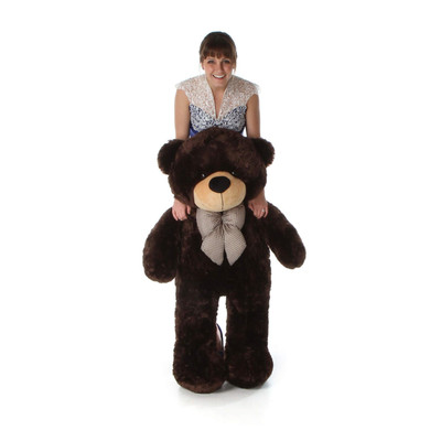 4ft Life Size Teddy Bear Brownie Cuddles Chocolate Brown Fur