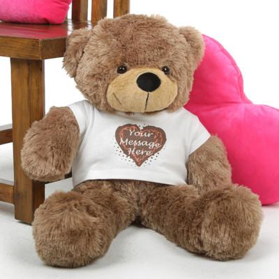 Sweet Mocha Hugs form a Special Personalized Teddy Bear!