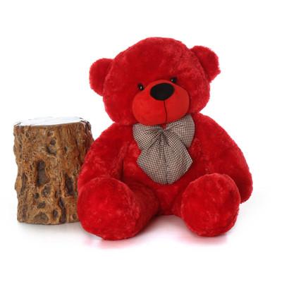 48in Bitsy Cuddles Red Teddy Bear