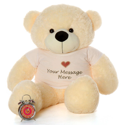 48in Softest Fur Cute Huggable Life Size Cream Teddy Bear Gift