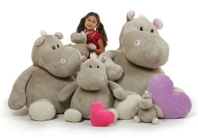Giant Teddy Brand - Enormous Hippo Family