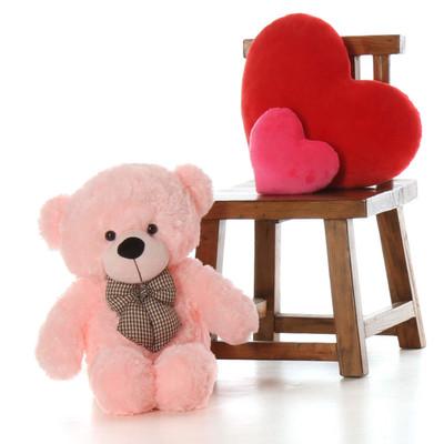 2.5ft Lady Cuddles  Soft Huggable, Pink Giant Teddy Plush Bear