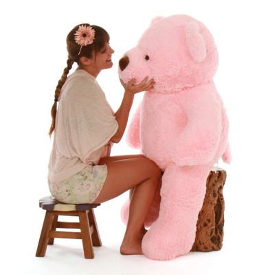 Gigi Chubs Plush and Adorable Light Rose Teddy Bear 48in
