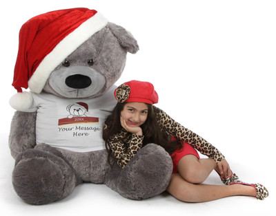 Lifesize Silver Teddy Bear Christmas Gift