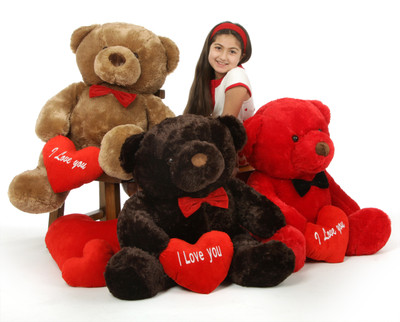 38in Chubs Valentine's Day I Love You Giant Teddy Bears - Munchkin, Buttercup, Smiley BFF's!