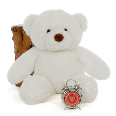 30in White Teddy Sprinkle Chubs by Giant Teddy
