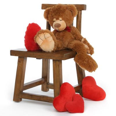 24'' Chester mitten Big Valentines day Teddy bear