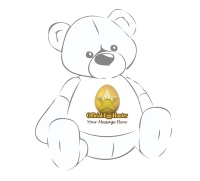 """Personalized """"Official Egg Hunter"""" Giant Teddy bear shirt for Easter"""