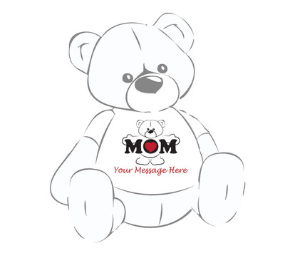 Giant Teddy Bear Personalized Tee for Mother's Day