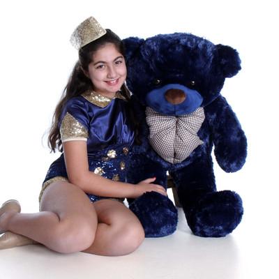 38in Royce Cuddles Giant Teddy Navy Blue Bear