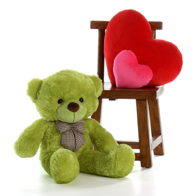 Ace Cuddles 30in Lime Green Giant Teddy Bear