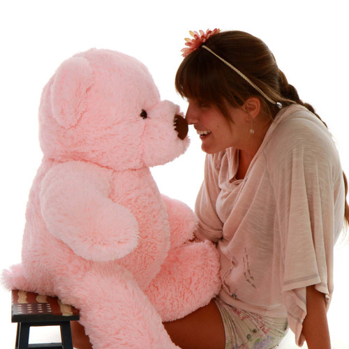 Super Soft and Cuddly 2.5 ft Pink Adorable Stuffed Chubs Giant Teddy Bear