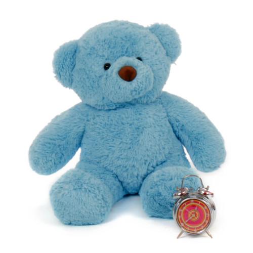 2.5 ft Big Blue Teddy Bear Sammy Chubs from Giant Teddy