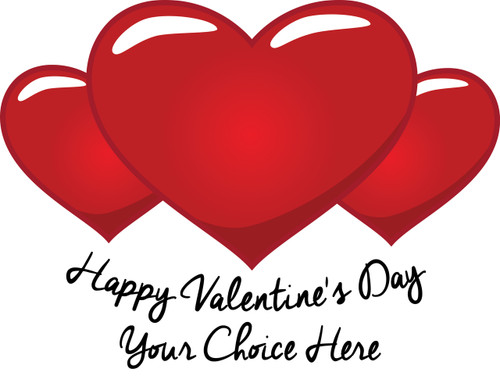 Happy Valentine's Day Red Heart (Your Choice Here) T-Shirt Design