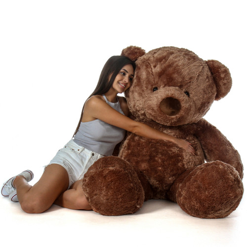 Buttercup Chubs Adorable Life Size Chestnut Teddy Bear 5 Foot Tall