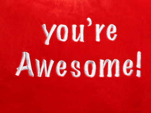 You're Awesome Heart Design (Close Up)