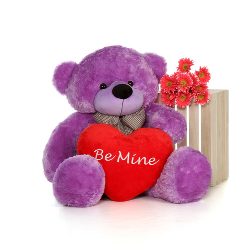 48in DeeDee Cuddles with Be Mine heart pillow