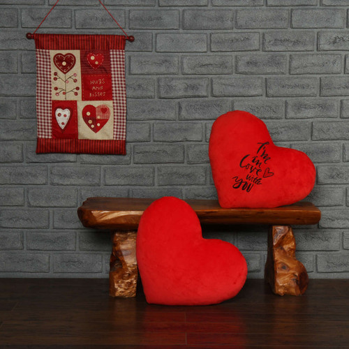 Personalized Greeting Heart Pillows: I'm In Love With You & Red Heart