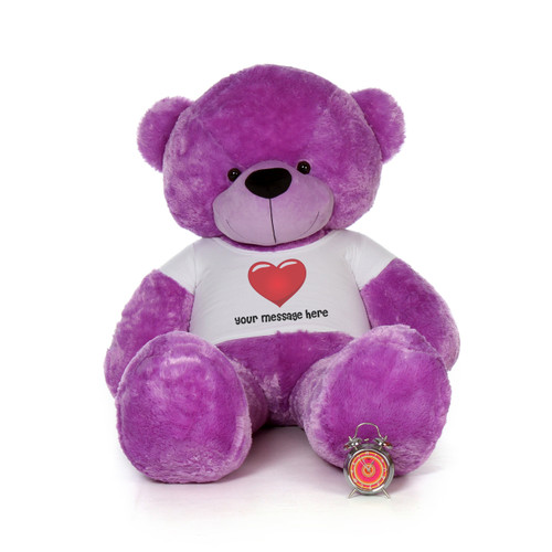 72in Personalized DeeDee Cuddles in Cute Red Heart Shirt