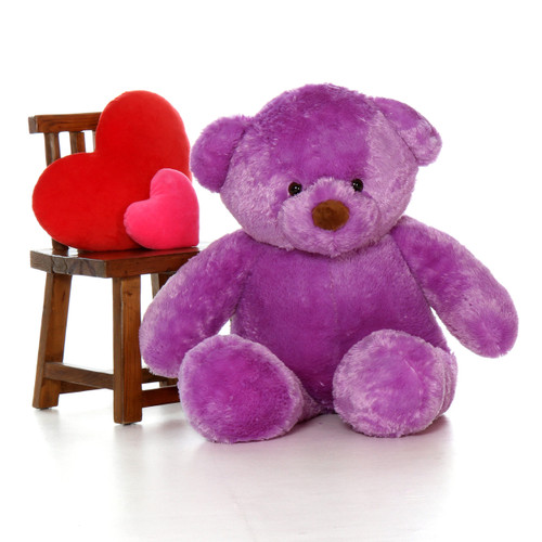 Jumbo 4ft (48in) Purple Bear Lila Chubs