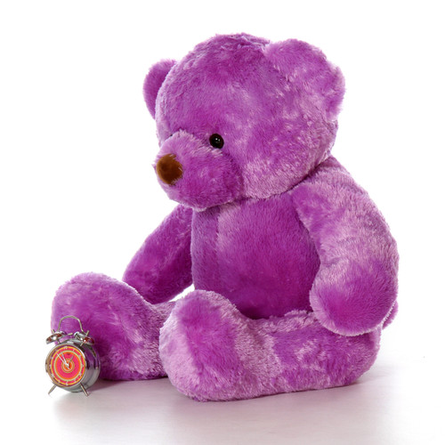 48in Purple Lila Chubs Life Size Giant Teddy Bear