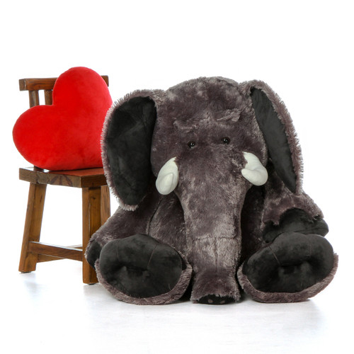 48in Life Size Grey Stuffed Elephant