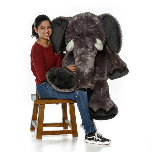 Life Size Gray Elephant Stuffed Animal with Model 4ft