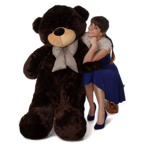 60in life size jumbo teddy bear Brownie Cuddles softest Adorable dark chocolate brown