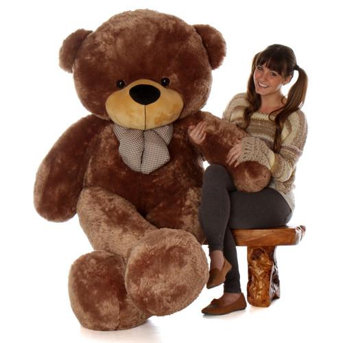 Biggest 6ft Life Size huggable Mocha Brown Teddy Bear Sunny Cuddles