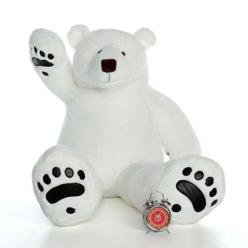 White Life Size Large Polar Bear 5 Foot