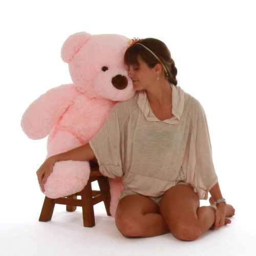 Gigi Chubs 38in Pink Stuffed Big Teddy Bear From Giant Teddy