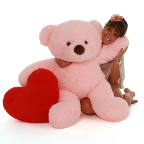 Big Pink Teddy Bear Gigi Chubs 38in