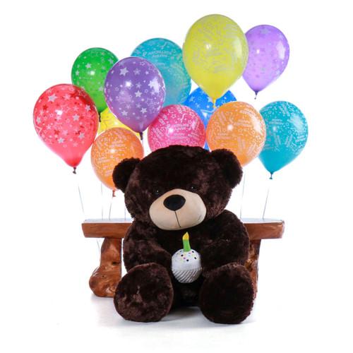 Chocolate Brown Teddy Bear - Birthday Present