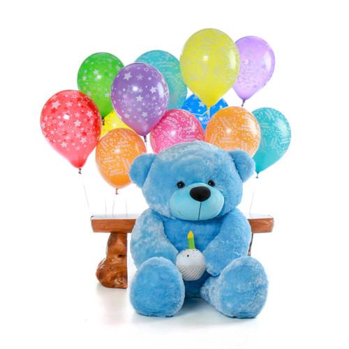 Sky Blue Giant Teddy Bear Birthday Boy Present