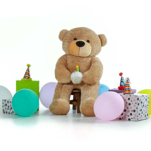 Amber Brown 4 Foot Teddy Bear Birthday Surprise