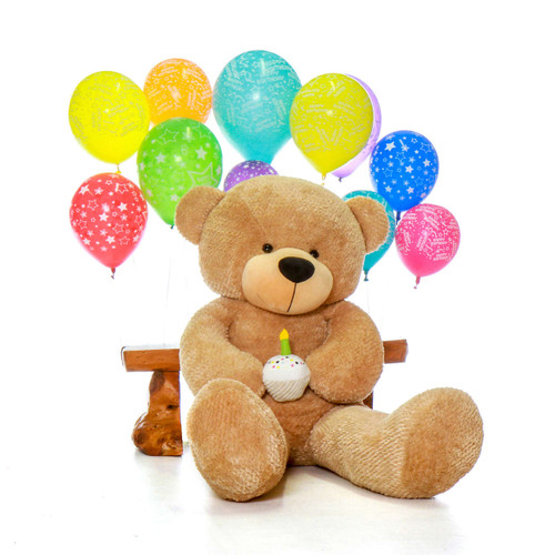 Happy Birthday Giant Teddy Bear Amber Brown