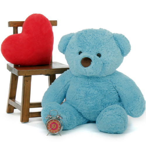 Enormous Blue Teddy Bear Sammy Chubs 38in from Giant Teddy