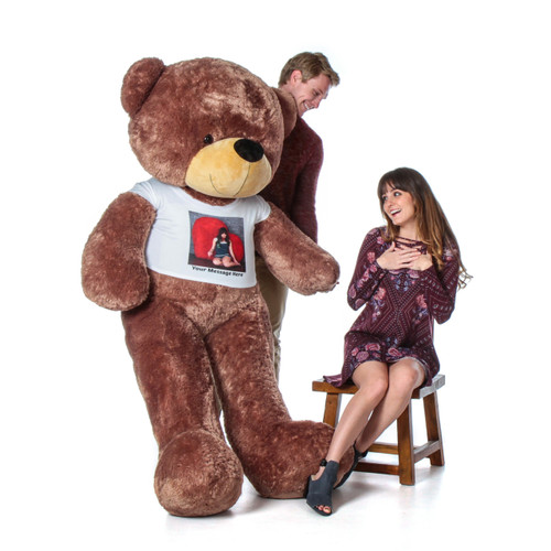 Perfect Valentine's  Day Gift for Girlfriend - Life Size Teddy Bear with Personalized Photo